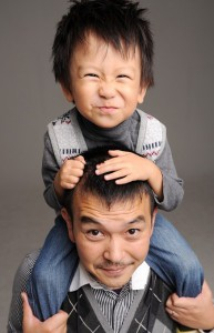 Osamu and Taiji (my son)